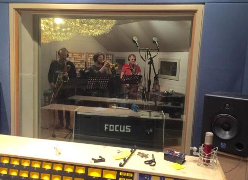 Wouter, Luuk en Jeroen in Wedgeview Studios