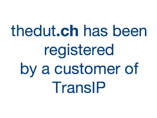 thedut.ch has been registered by a customer of TransIP