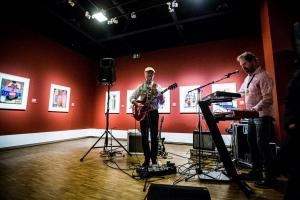 Hans en Bert in de Werkmanzaal, Museumnacht Groningen 8-9-2018