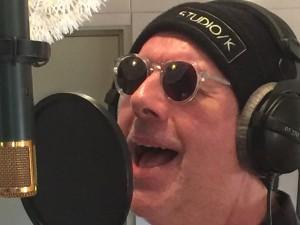 Hans recording in Wedgeview Studios 1