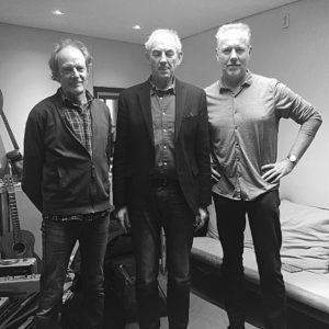 Jan, Job and Hans at Rubinstein Publishers after recording So Long H.N. Werkman