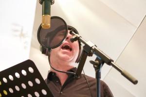 Hans recording in Wedgeview Studios 2